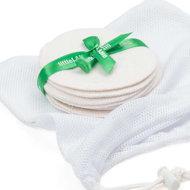 Washable-breast-pads-made-from bamboo-in-natural-for-breast-feeding