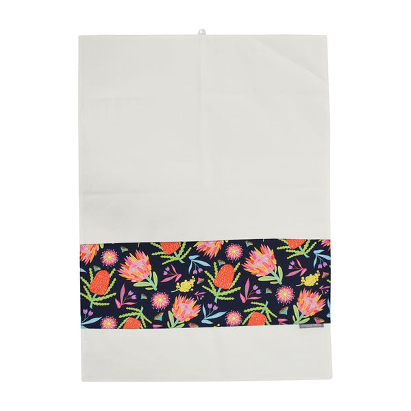 Aussie Floral Tea Towel