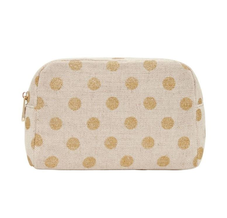 Large Cosmetic Bag - Gold Spot