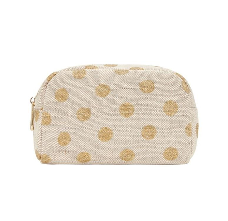 Small Cosmetic Bag- Gold Spot
