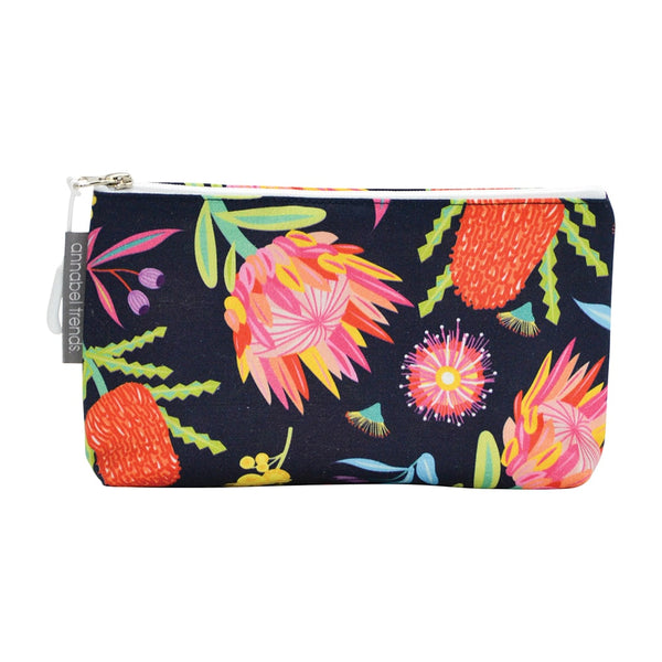 Australian Floral Cosmetic Case- Small