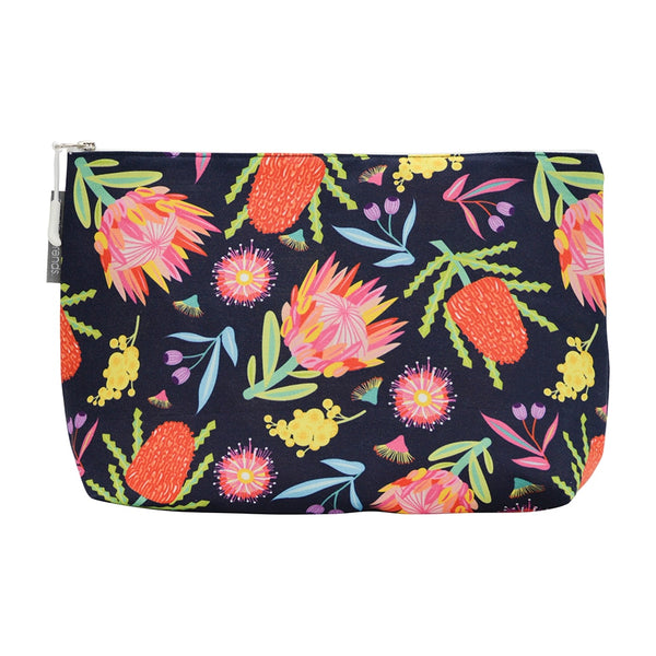 Australian Floral Cosmetic Case- Large