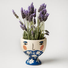 Albert Face Vase Blue