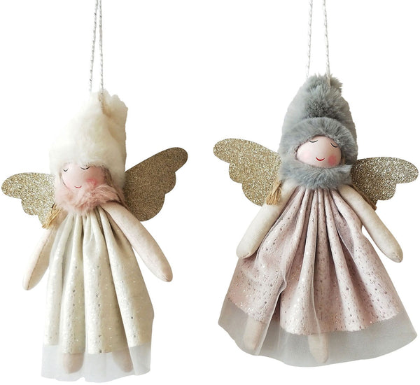 Sparkle Angel Hanging Decoration (Various Colours)
