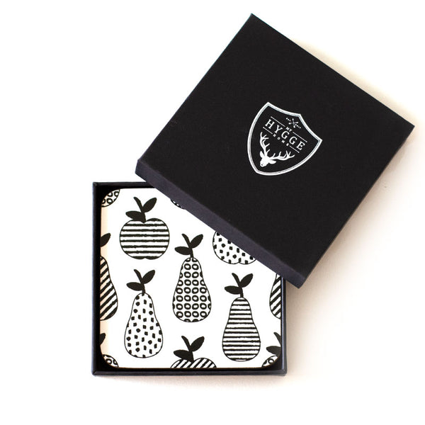 Apple & Peats Coasters - Set of 4