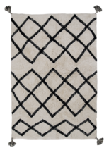 Cotton Berber Rug - Black
