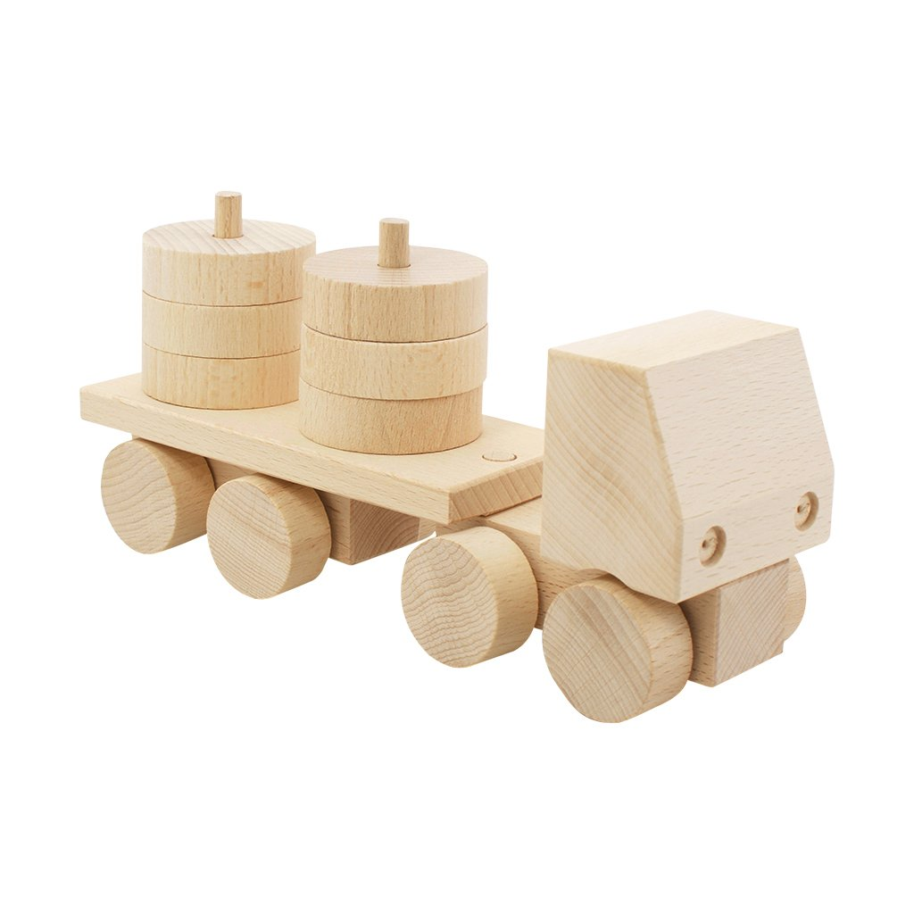 Wooden Stacking Truck Hudson