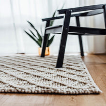Honeycomb Diamond Weave Cream/Natural Rug