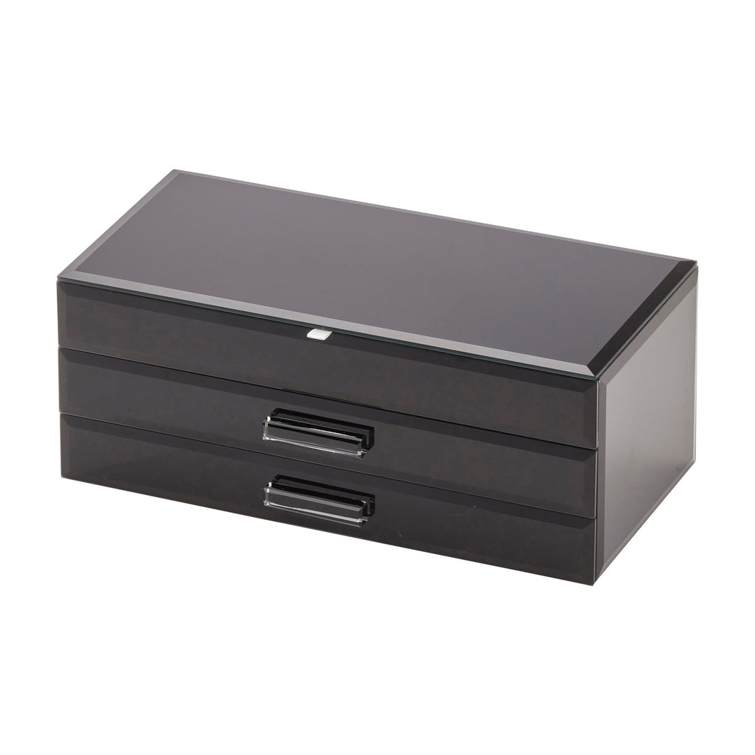 Gabriella Jewellery Box - Large Black