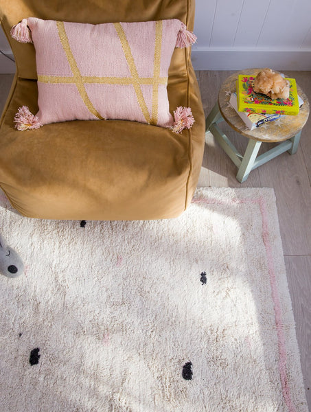 Going Dotty Pink - Cotton Berber Rug