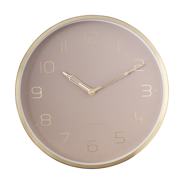 Lily Dust Rose Silent Wall Clock 30cm