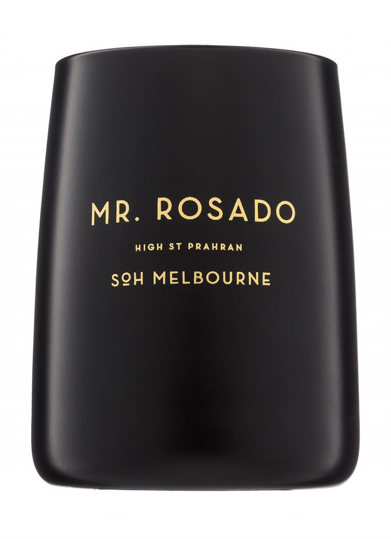 Mr Rosando Black Matte Candle