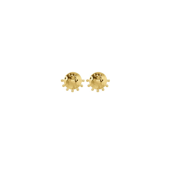 Organic Stud Earrings (Various Colours)