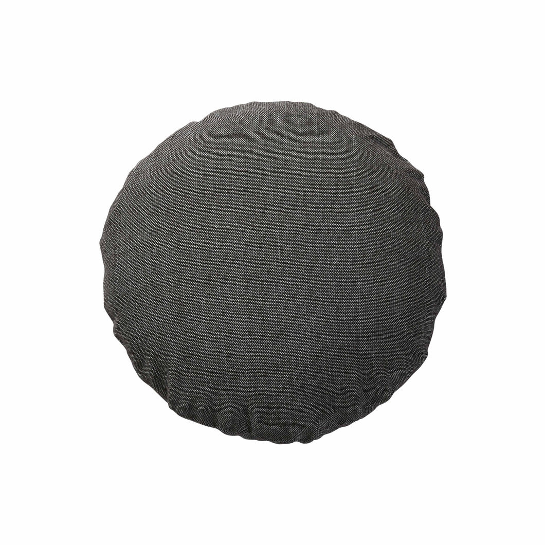 Anthracite Woven Cushion Round