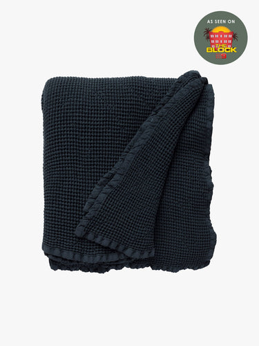 Hepburn Blanket Navy Large