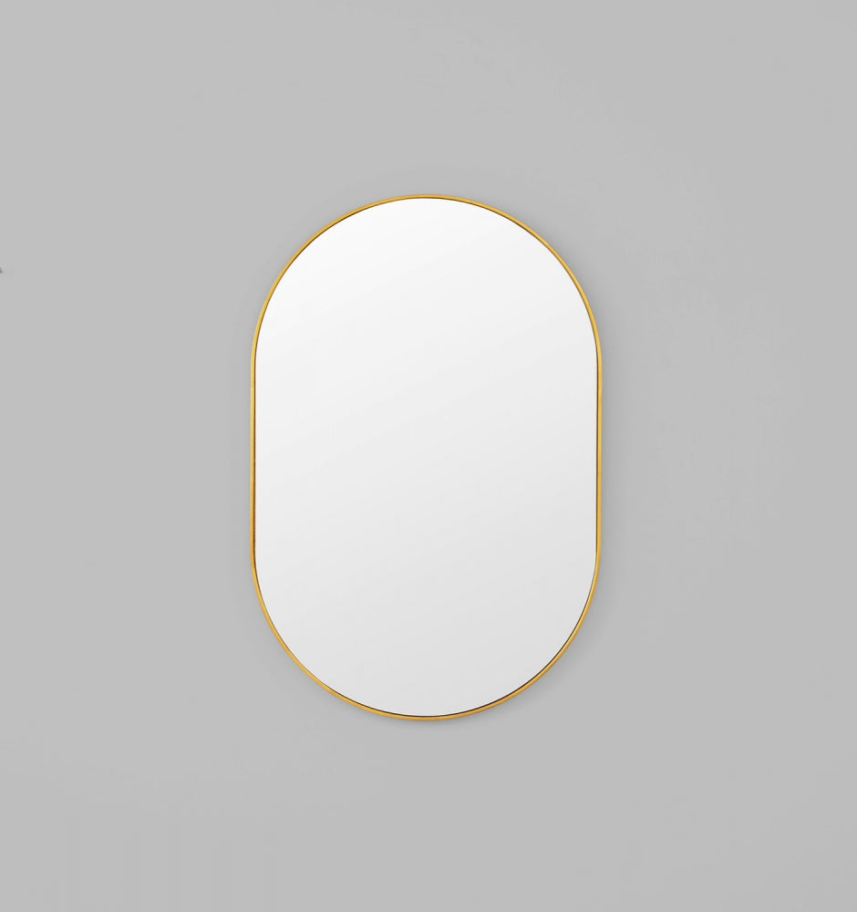 Bjorn Oval Mirror Brass (Various Sizes)