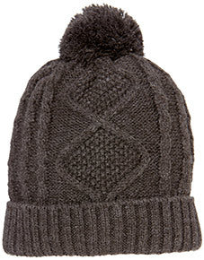 Brussels Charcoal Beanie (Various Sizes)