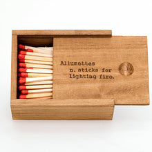 Wooden Matches Box - Allumettes