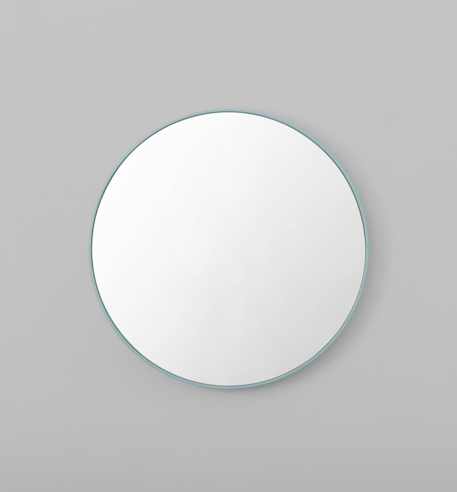 Flynn Round Mirror Dusty Blue (Various Sizes)