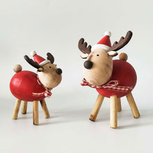 Reindeer With Bow Standing Decoration - Small