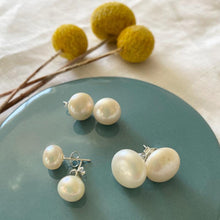 Freshwater Pearl Stud Earrings - Medium