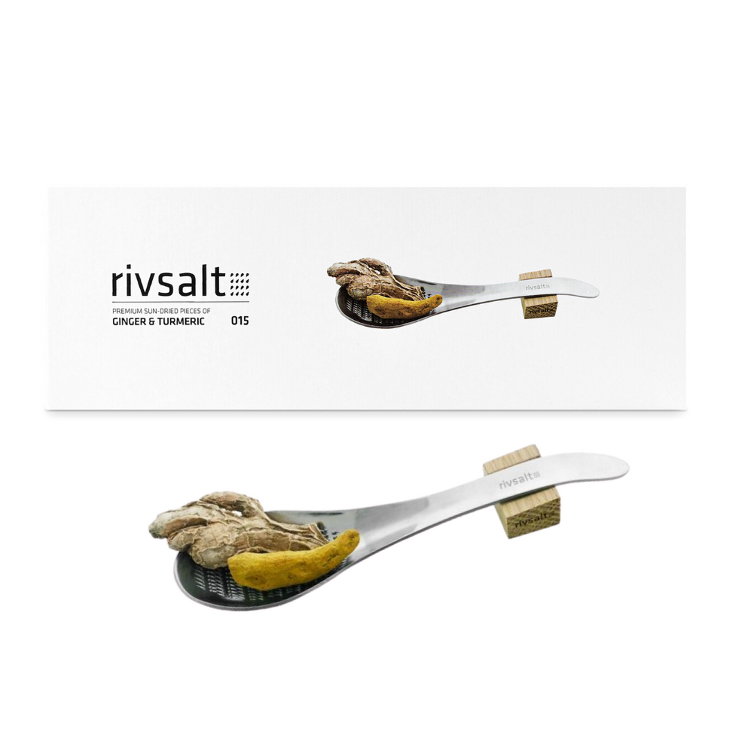 Rivsalt Ginger & Turmeric with Stainless Steel Grater
