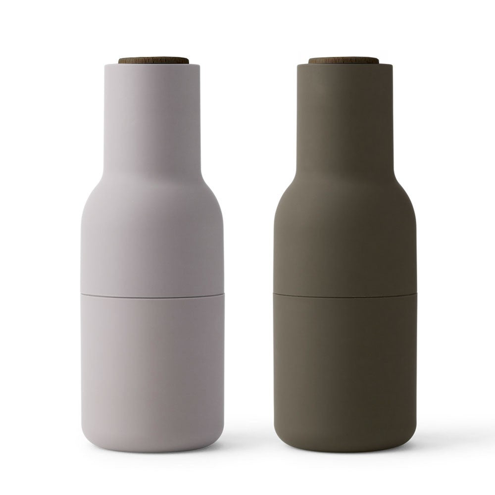 Salt & Pepper Bottle Grinder - Green & Beige