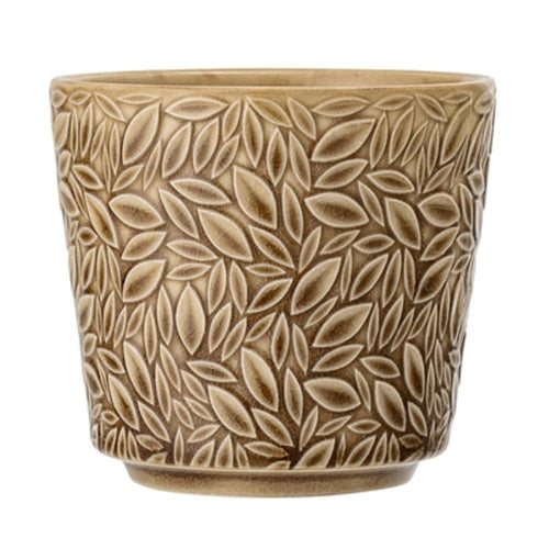 Yellow Leaf Flowerpot