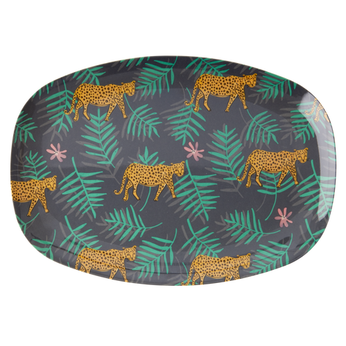Leopard and Leaf Plate