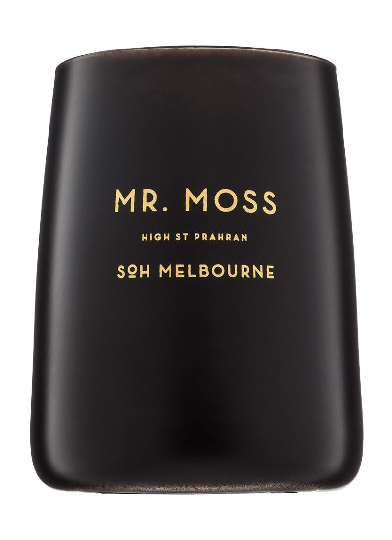 Mr Moss Black Matte Candle