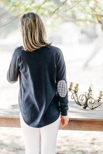 Navy Swing Jumper + Gingham Patches
