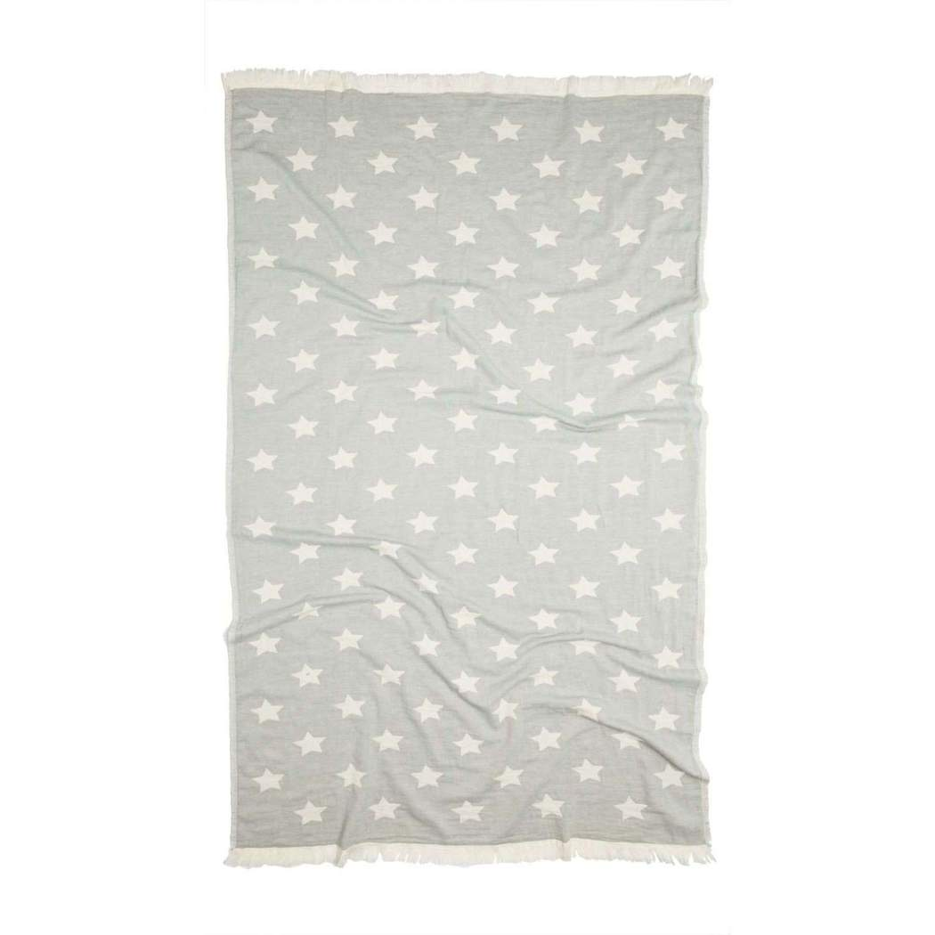Oteki Turkish Throw - Grey Star