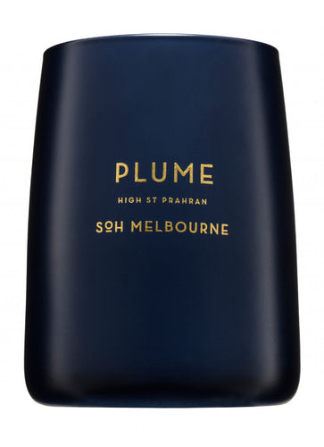 Plume Navy Matte Candle