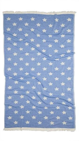 Oteki Turkish Throw - Blue Star