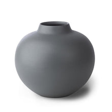 Mona Grey Round Iron Vase