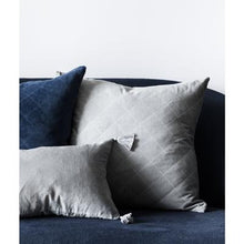 Velvet Quilted Cushion (Various Colours)