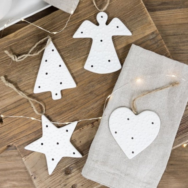 Spotty hanging Heart Decoration