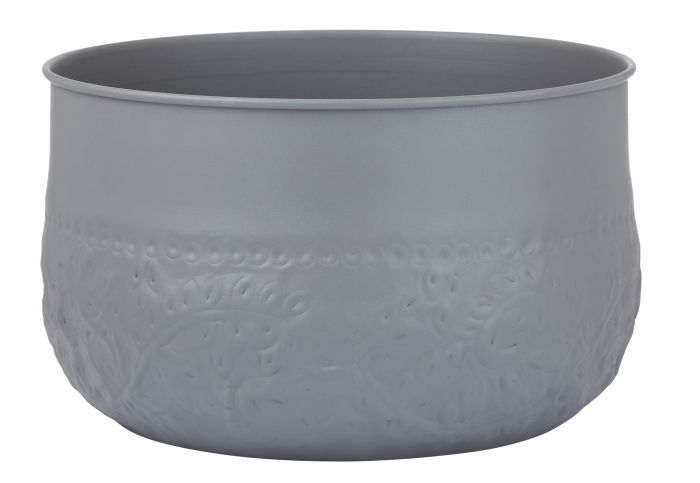 Grey Iron  Planter Pot 34cm
