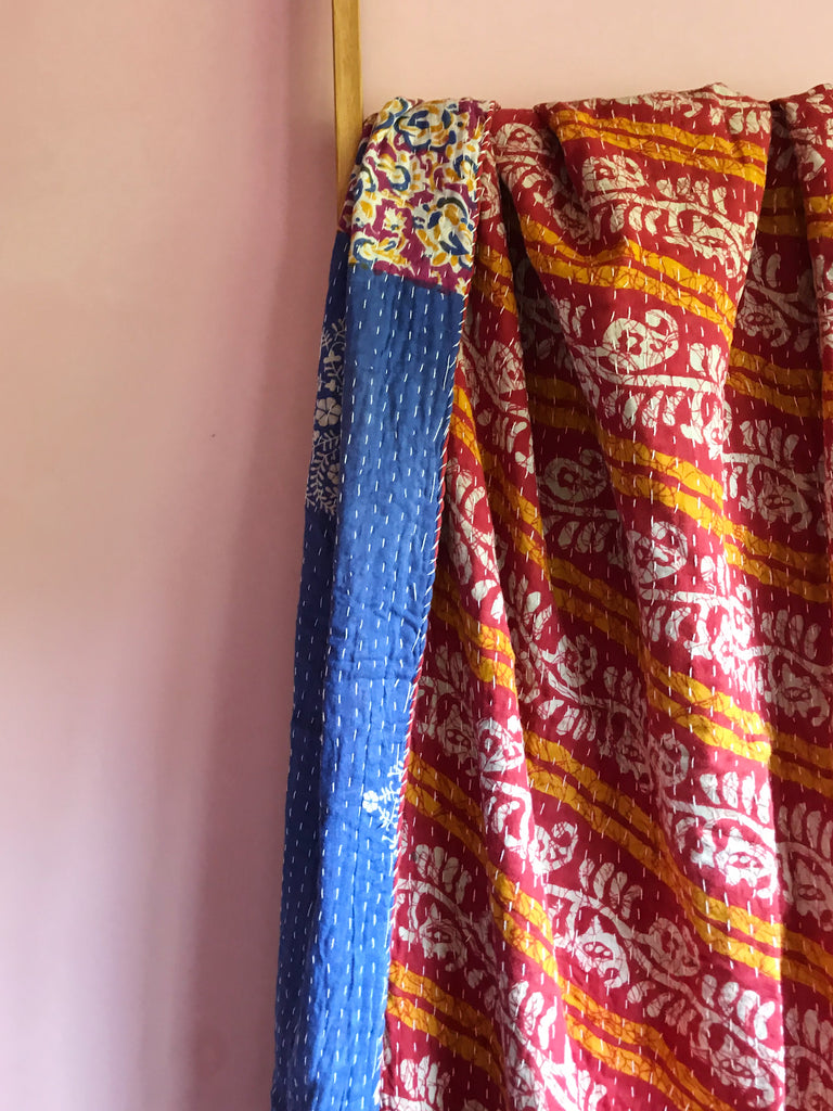 Fair trade indian kantha throw blanket New Zealand