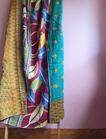 Fair trade indian kantha blanket New Zealand
