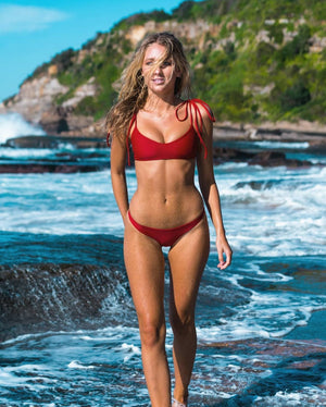 MOTU SWIM - FLORES Bottoms - Ruby