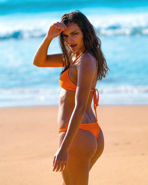 MOTU SWIM - FLORES Bottoms - Tangerine