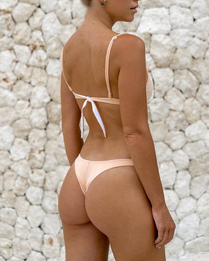 MOTU SWIM - HANA Bottoms - Almond/White