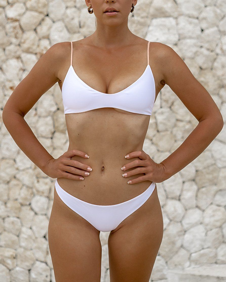 MOTU SWIM - HANA Top - Almond/White