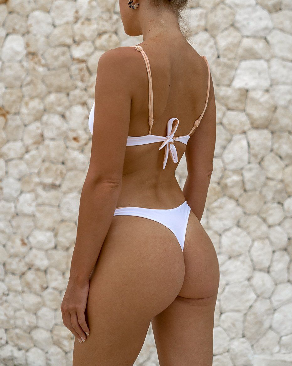 MOTU SWIM - MANTA Bottoms - Almond/White