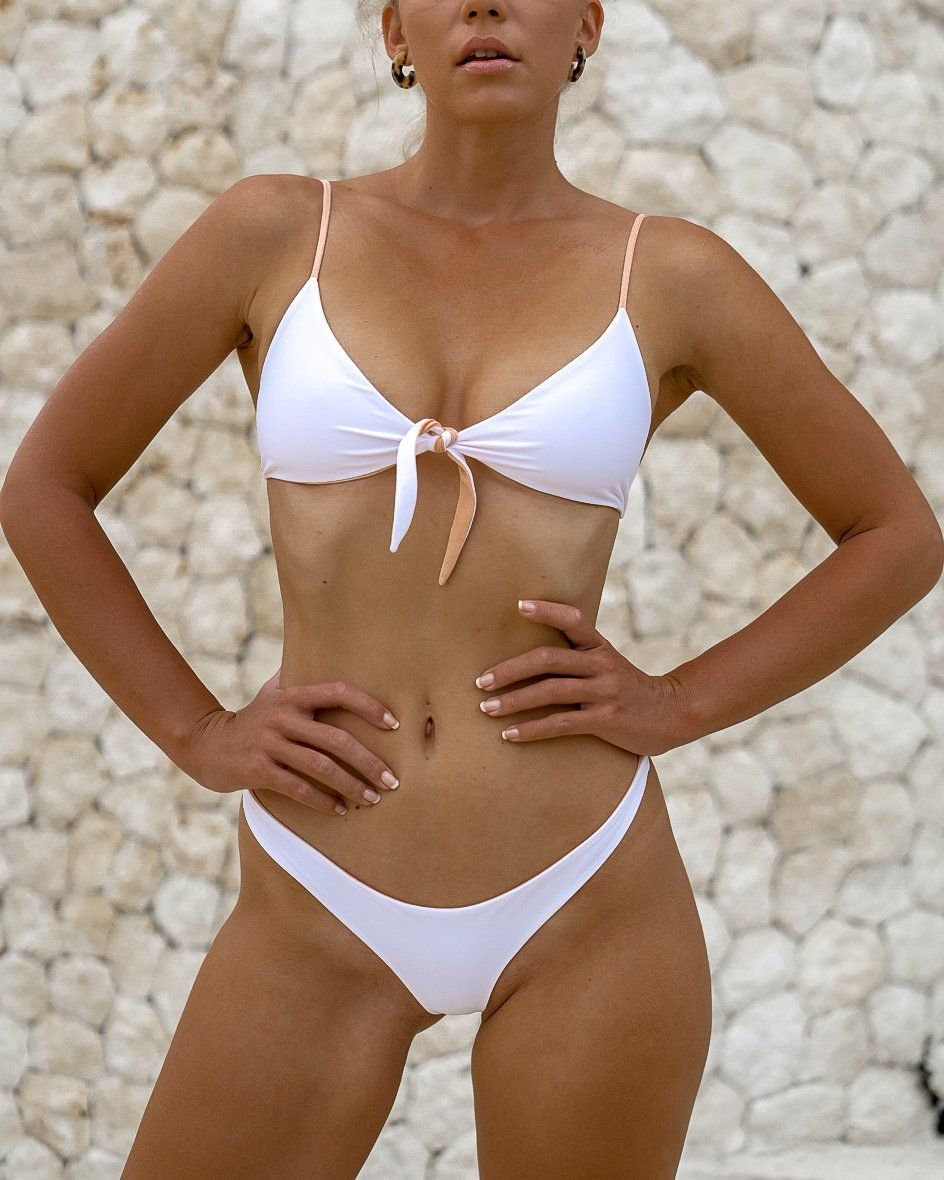 MOTU SWIM - MANTA Top - Almond/White