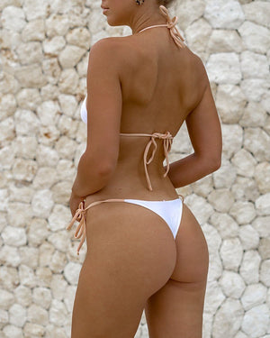MOTU SWIM - NUSA Bottoms - Almond/White