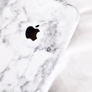 iPhone 7 plus white marble skins
