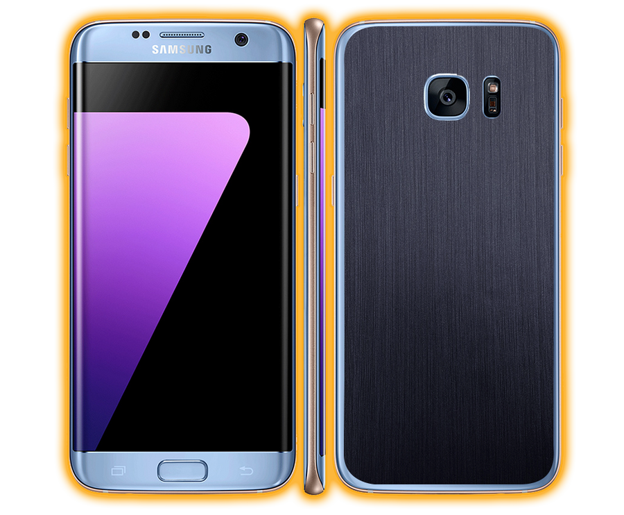 Galaxy S7 Edge - Brushed Metal Skins / Wraps