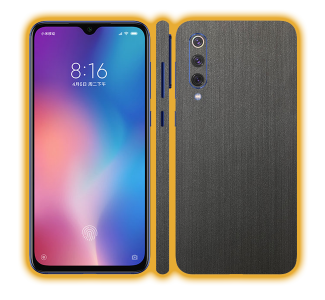 Mi 9 - Brushed Metal Skins / Wraps